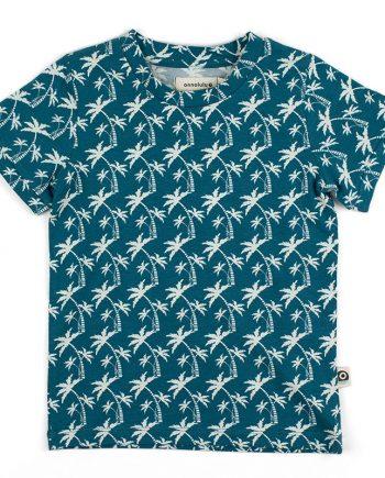 Heerlijk zomers t-shirt met palmen gemaakt van biologisch jersey katoen.
